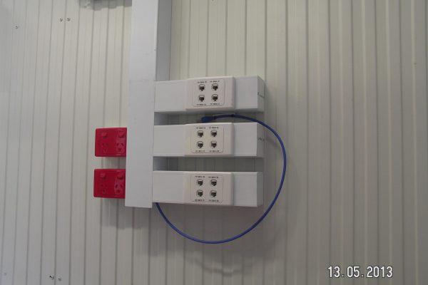 LAN sockets at mine site