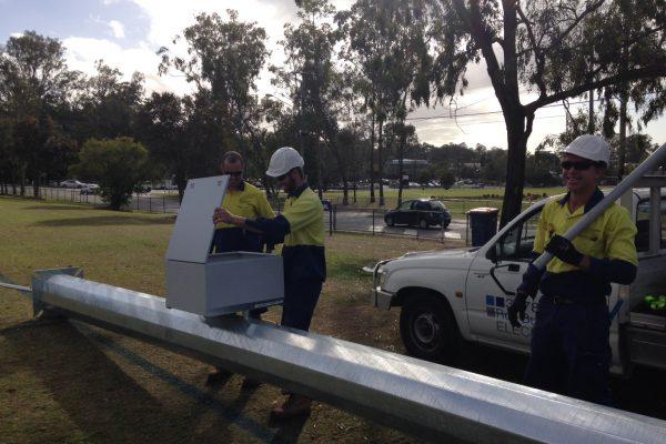 Floodlight Installation